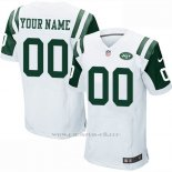 Camisetas NFL Elite Hombre New York Jets Personalizada Blanco