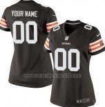 Camisetas NFL Mujer Cleveland Browns Personalizada Negro