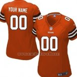 Camisetas NFL Mujer Cleveland Browns Personalizada Rojo