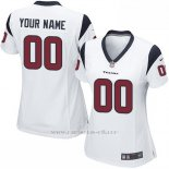 Camisetas NFL Replica Mujer Houston Texans Personalizada Blanco