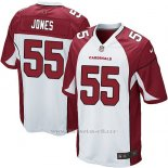 Camiseta Arizona Cardinals Jones Blanco Rojo Nike Game NFL Nino