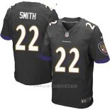 Camiseta Baltimore Ravens Smith Negro Nike Elite NFL Hombre