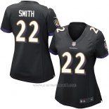 Camiseta Baltimore Ravens Smith Negro Nike Game NFL Mujer