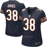 Camiseta Chicago Bears Amos Blanco Negro Nike Game NFL Mujer