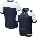 Camiseta Dallas Cowboys Blanco y Profundo Azul Nike Gold Elite NFL Hombre