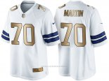 Camiseta Dallas Cowboys Martin Blanco Nike Gold Game NFL Hombre