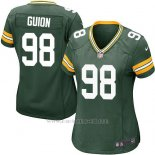 Camiseta Green Bay Packers Guion Verde Militar Nike Game NFL Mujer