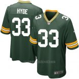Camiseta Green Bay Packers Hyde Verde Militar Nike Game NFL Nino