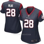 Camiseta Houston Texans Blue Negro Nike Game NFL Mujer
