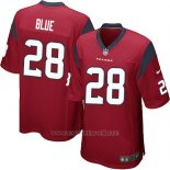 Camiseta Houston Texans Blue Rojo Nike Game NFL Hombre