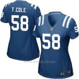 Camiseta Indianapolis Colts T.Cole Azul Nike Game NFL Mujer