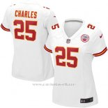 Camiseta Kansas City Chiefs Charles Blanco Nike Game NFL Mujer
