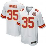 Camiseta Kansas City Chiefs Okoye Blanco Nike Game NFL Nino