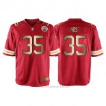 Camiseta Kansas City Chiefs West Rojo Nike Gold Game NFL Hombre