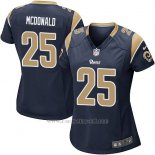 Camiseta Los Angeles Rams Mcdonald Negro Nike Game NFL Mujer