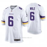 Camiseta NFL Game Hombre Minnesota Vikings Matt Wile Blanco