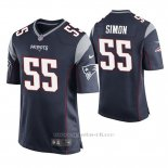 Camiseta NFL Game Hombre New England Patriots John Simon Azul