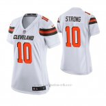 Camiseta NFL Game Mujer Cleveland Browns Jaelen Strong Blanco