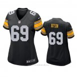 Camiseta NFL Game Mujer Pittsburgh Steelers Kevin Dotson Negro
