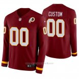 Camiseta NFL Hombre Washington Redskins Personalizada Burgundy Therma Manga Larga