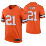 Camiseta NFL Legend Denver Broncos A.j. Bouye Naranja Color Rush