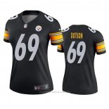 Camiseta NFL Legend Mujer Pittsburgh Steelers Kevin Dotson Negro
