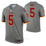 Camiseta NFL Legend Washington Redskins Tress Way Inverted Gris