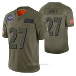 Camiseta NFL Limited Baltimore Ravens Cyrus Jones 2019 Salute To Service Verde