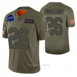 Camiseta NFL Limited Buffalo Bills Devin Singletary 2019 Salute To Service Verde