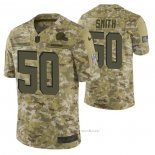 Camiseta NFL Limited Cleveland Browns 50 Chris Smith 2018 Salute To Service Camuflaje
