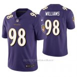 Camiseta NFL Limited Hombre Baltimore Ravens Brandon Williams Violeta Vapor Untouchable