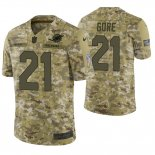 Camiseta NFL Limited Hombre Camo Frank Gore 2018 Salute To Service Jersey