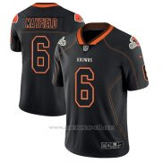 Camiseta NFL Limited Hombre Cleveland Browns Baker Mayfield Negro Color Rush 2018 Lights Out