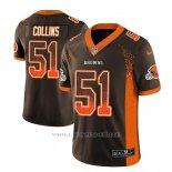 Camiseta NFL Limited Hombre Cleveland Browns Jamie Collins Marron 2018 Drift Fashion Color Rush