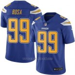 Camiseta NFL Limited Hombre Los Angeles Chargers 99 Joey Bosa Electric Azul Stitched Rush