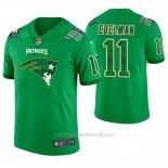 Camiseta NFL Limited Hombre New England Patriots Julian Edelman St. Patrick's Day Verde