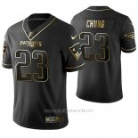 Camiseta NFL Limited Hombre New England Patriots Patrick Chung Golden Edition Negro