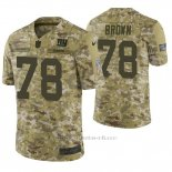 Camiseta NFL Limited Hombre New York Giants Jamon Brown Camuflaje 2018 Salute To Service