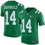 Camiseta NFL Limited Hombre New York Jets 14 Sam Darnold Verde Stitched Rush