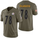 Camiseta NFL Limited Hombre Pittsburgh Steelers 78 Alejandro Villanueva 2017 Salute To Service Verde