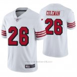 Camiseta NFL Limited Hombre San Francisco 49ers Tevin Coleman Blanco Color Rush