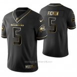 Camiseta NFL Limited Hombre Seattle Seahawks Sam Ficken Golden Edition Negro