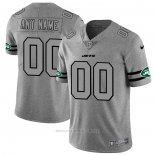 Camiseta NFL Limited New York Jets Personalizada Team Logo Gridiron Gris
