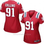 Camiseta New England Patriots Collins Rojo Nike Game NFL Mujer