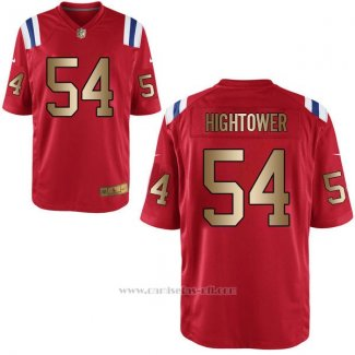 Camiseta New England Patriots Hightower Rojo Nike Gold Game NFL Hombre