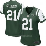 Camiseta New York Jets Gilchrist Verde Nike Game NFL Mujer
