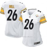 Camiseta Pittsburgh Steelers Bell Blanco Nike Game NFL Mujer