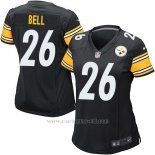 Camiseta Pittsburgh Steelers Bell Negro Nike Game NFL Mujer