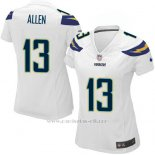 Camiseta San Diego Chargers Allen Blanco Nike Game NFL Mujer