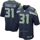 Camiseta Seattle Seahawks Chancellor Azul Oscuro Nike Game NFL Nino